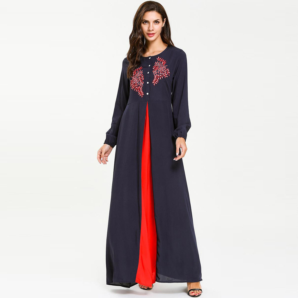 Abayas For Women Muslim Long Abaya Beautiful Muslim Dresses Middle Eastern Long Dress Cotton Middle Eastern Abaya Y525