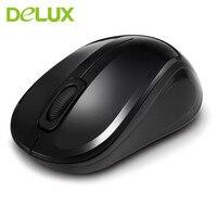 Delux M135G Szybkiego Kliknięcia Myszy Bezprzewodowa Mysz Przenośny 1000 DPI Bezprzewodowa odległość 10 m Uniwersalny PC Myszy Komputerowe Dla Biura