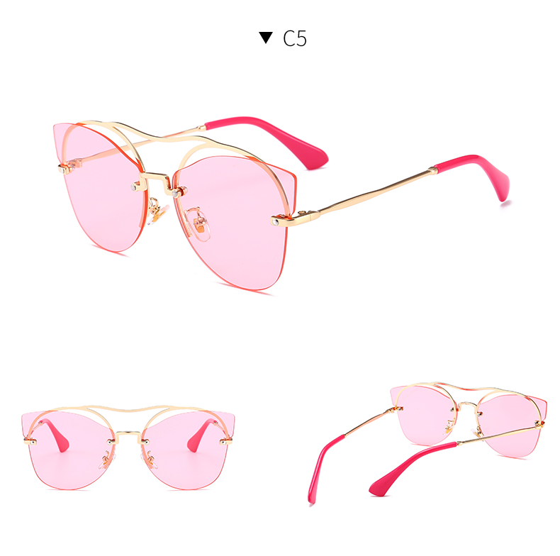 Cool fashion hollow cat eye sunglasses female clear fashion designer sunglasses MZ401-450 women Oculos De Sole