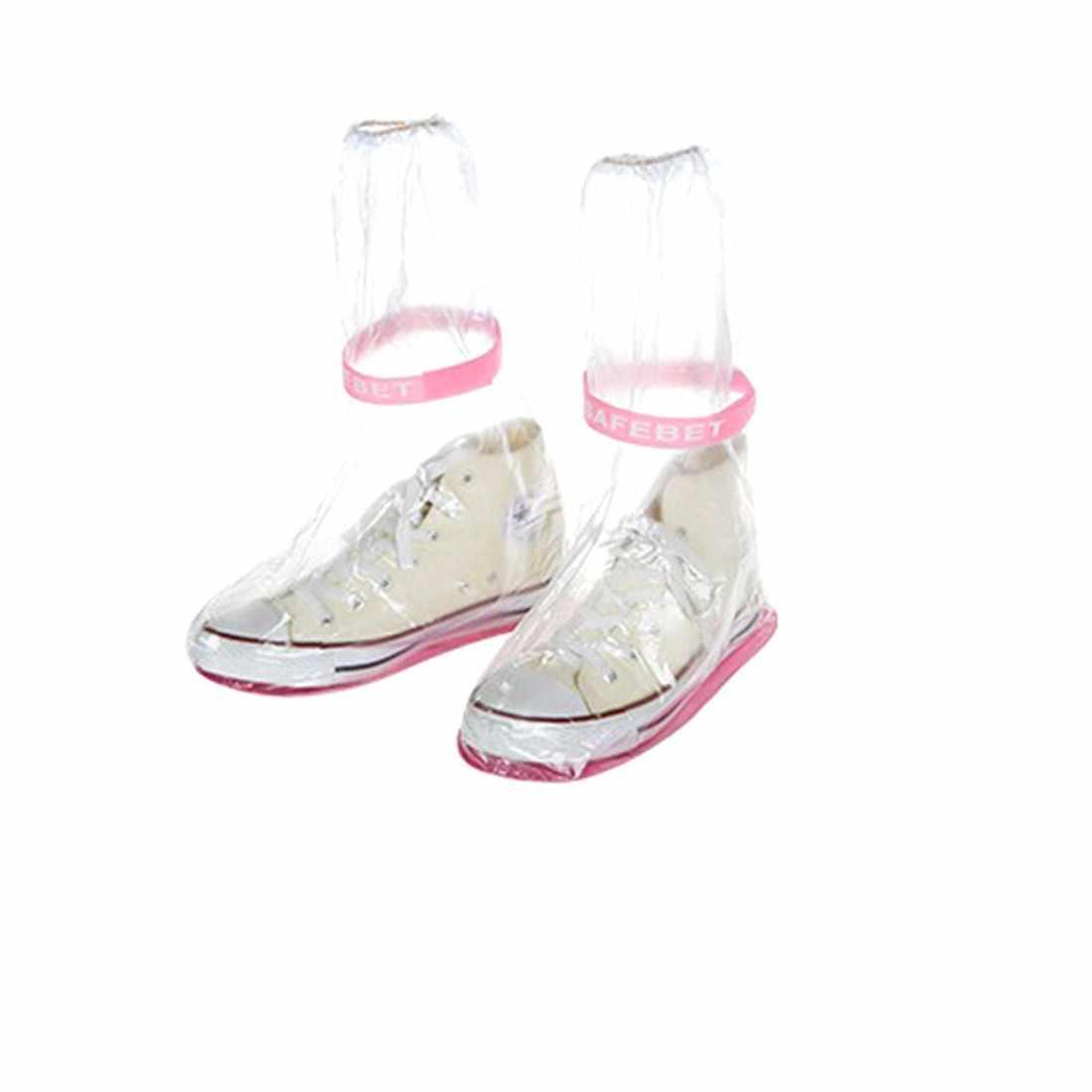 Yeniden kullanılabilir Yağmur ayakkabı koruyucu Kadınlar/Erkekler/Çocuklar Çocuk Kalınlaşmak su geçirmez botlar Döngüsü Yağmur Düz slip-dayanıklı Galoş
