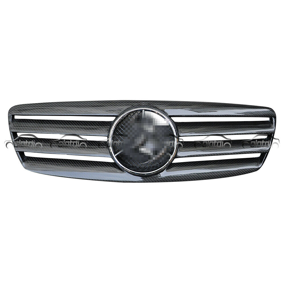 <font><b>W211</b></font> <font><b>Grills</b></font> Carbon Fiber Car Kidney <font><b>Grill</b></font> for <font><b>Mercedes</b></font> Benz <font><b>W211</b></font> 03-06 OLOTDI Car Styling image