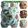 Baby Reusable 1PC Swim Diapers boys or girls Cartoon Swimwear Children adjustable summer swimming Nappy pants