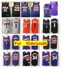 Phoenix Deandre Ayton Josh Jackson Devin Booker Steve Nash Charles Barkley  juventude crianças s basquete jerseys 8f1b6e4cc