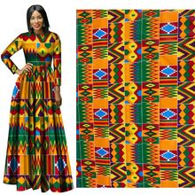 2019 New National Wind Cotton Calico Geometric orange  wax 100% Batik african pattern