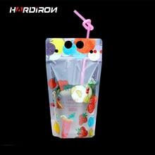 ФОТО hareiron portable milk tea bag disposable beverage pouch creativity self-sealed plastic beverage plastic beverage packet 400ml