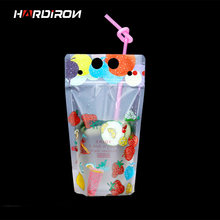 HAREIRON Portable Milk Tea Bag Disposable Beverage Pouch Creativity Self-Sealed Plastic Beverage Plastic Beverage Packet 400ml(China)