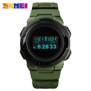 Image 1 - Relojes deportivos para hombre, marca SKMEI, relojes Chronos de goma para hombre, reloj Digital LED resistente al agua, reloj militar para hombre, reloj Masculino
