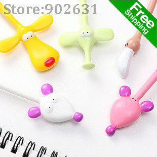 Free Promotion~Free Shipping/Accept Credit Card 100pcs/lot Best School Students Gifts Many Colors & Design cartoon ball pen