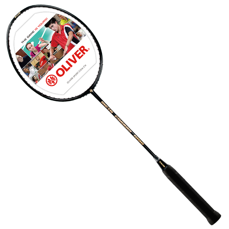 Badminton Racket Black With Carbon Fiber For Men And Women Racquet Sports Free String