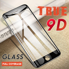 9D Curved Edge Protective Glass On For iPhone 7 8 6 6s Plus X XS Full Cover Screen Protector For iPhone 5 5S Tempered Glass Film premium tempered glass flat edge screen protector for iphone 5 transparent