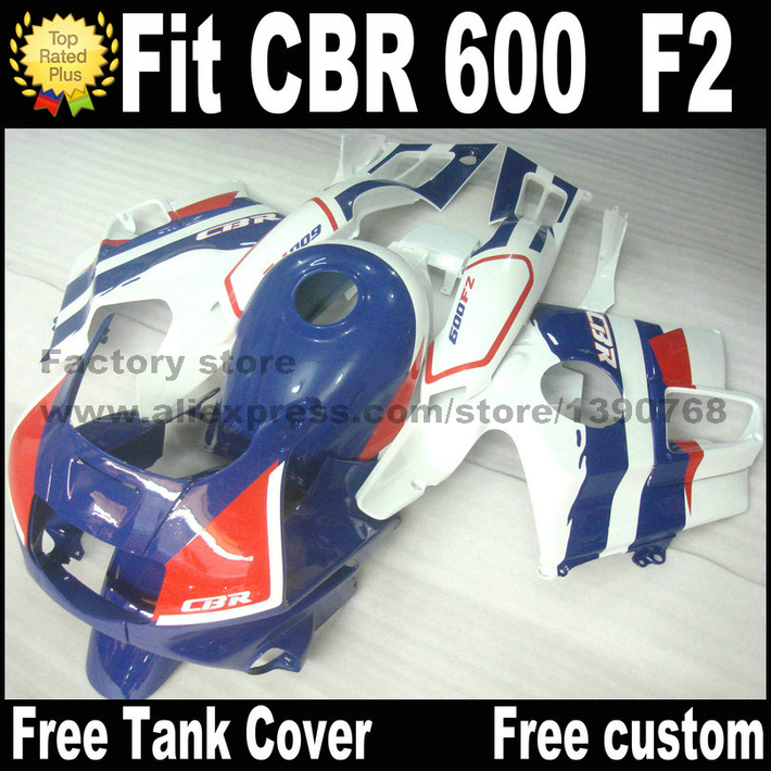 Plastic set for HONDA CBR 600 F2 fairing kit 1991 1992 1993 1994 blue white red fairings cbr f2 91 92 93 94 BJ87 expert 220 w 200 f2 f2 f2 000 серии