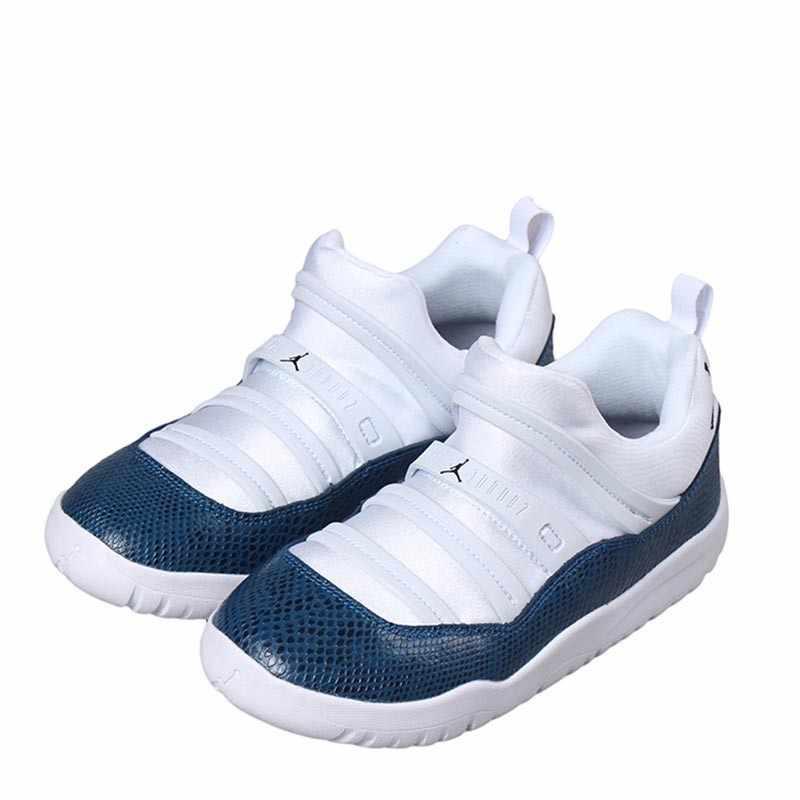 AIR JORDAN 11 LITTLE FLEX оригинальная детская обувь дышащая легкая детская обувь для бега спортивные кроссовки # BQ7101