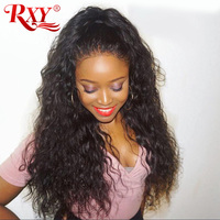 Peruvian Water Wave 360 Lace Frontal Wig Pre Plucked With Baby Hair Lace Front Human Hair Wigs For Black Women RXY Remy Lace Wig