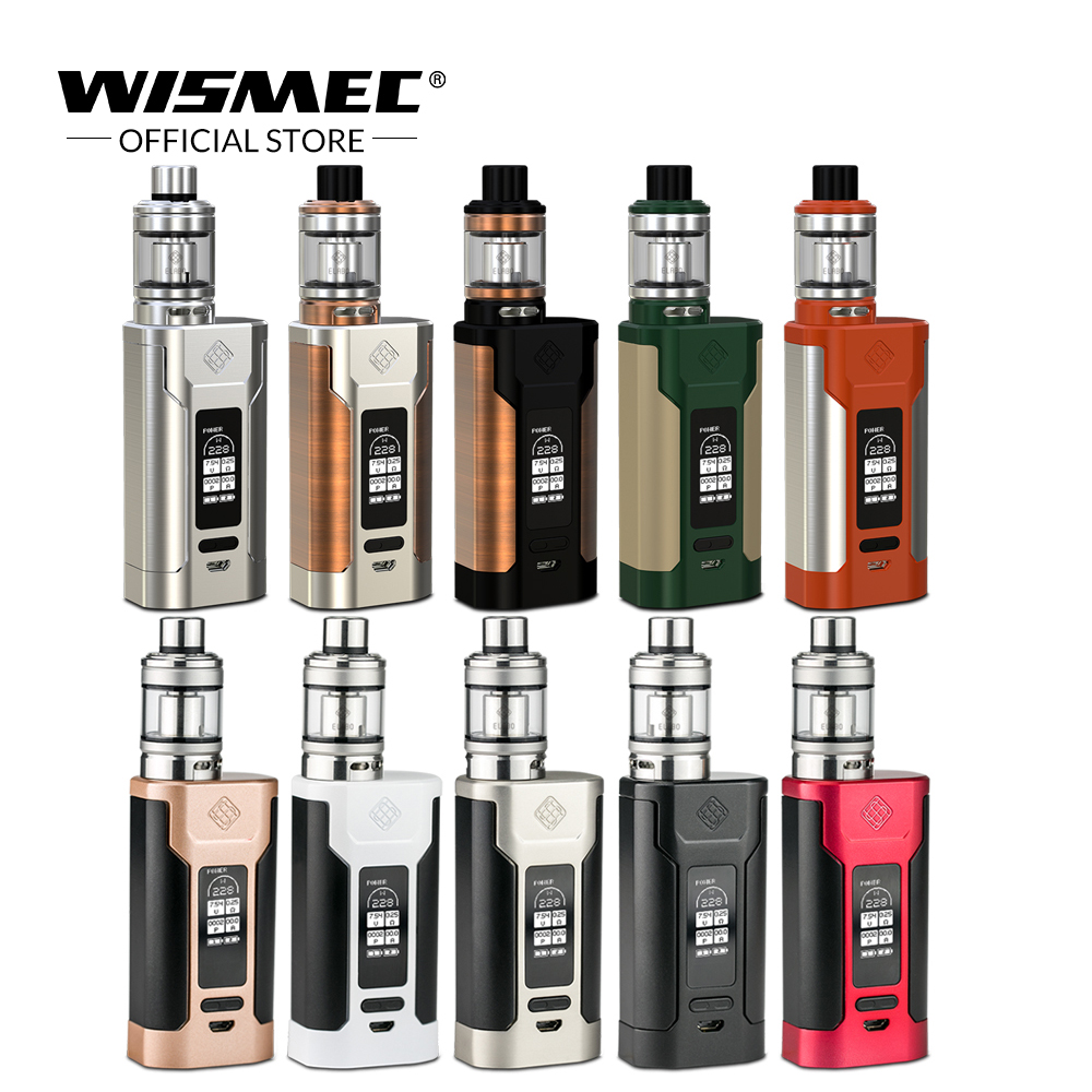 Original Wismec SINUOUS P228 Kit with Elabo Tank 4.9ml Capacity Max Output 228W Electronic cigarette Vape Mod Box original wismec sinuous p80 kit with elabo mini tank 2ml 80w max output mod box uses single 18650 battery electronic cigarette