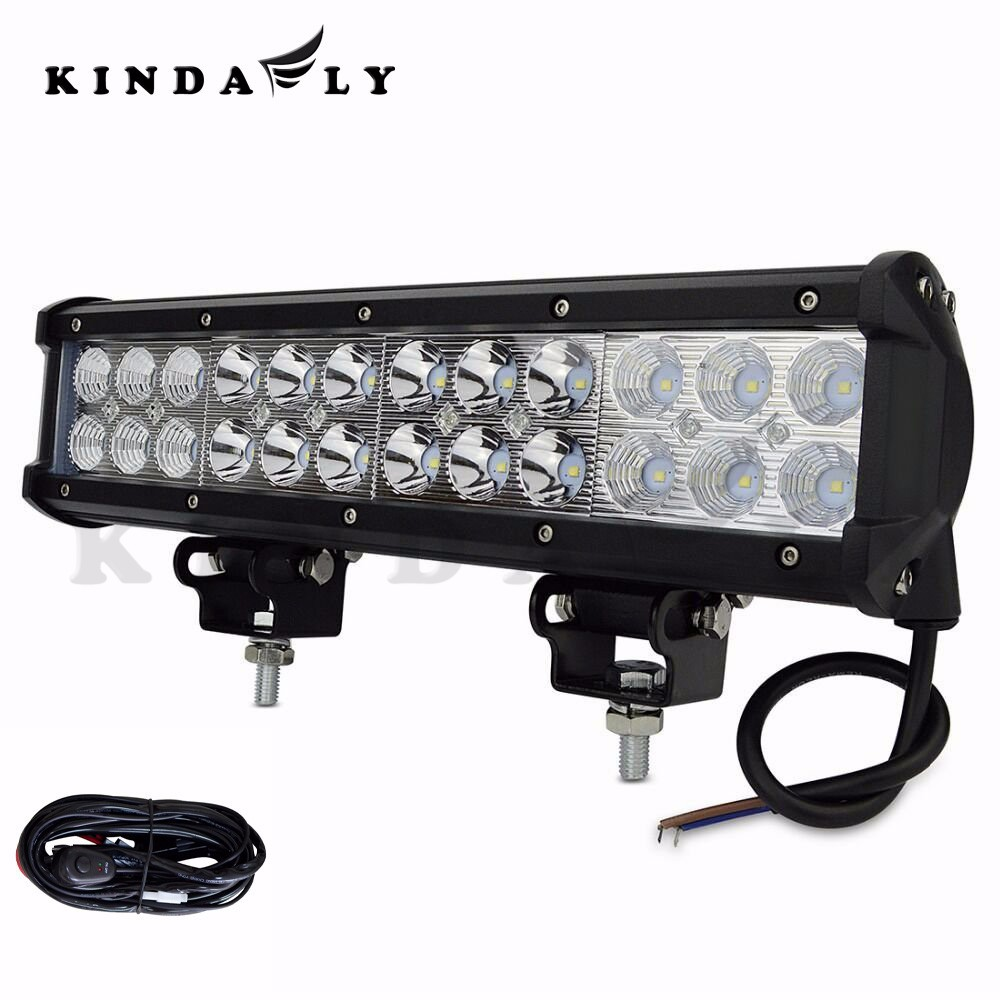 Led Light Bar With Wiring Harness : Kindafly us ip quot w off road led light bar with