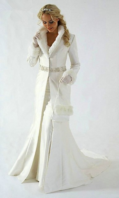 2016 Inverno Quente Marfim Vestido de Festa do Assoalho-Comprimento vestido Novo Frisado Pele Casacos Estilo Elegante Longo Tribunal Trem Vestido de Noite 0604
