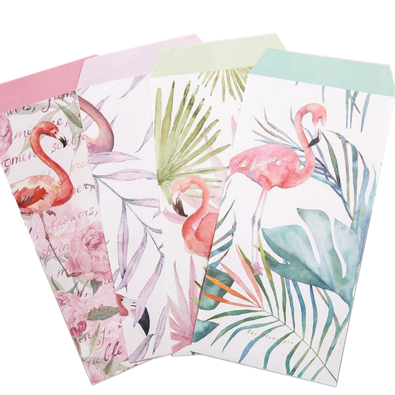 10Pack/lot Flamingos Flower Planting 3 Envelopes + 6 Sheets Letter Paper Set For Invitations Cute Office Stationary Supplies