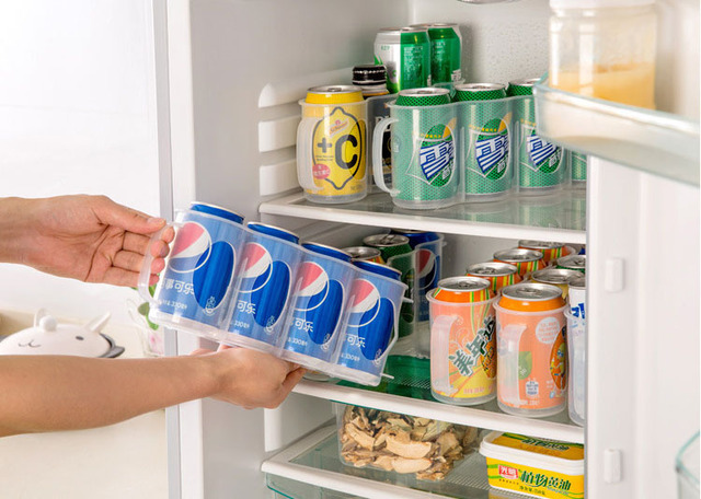 New Plastic Beverage Beer Or Soda Can Storage Organizer Holder Kitchen Fridge Pantry Space Saver Organization