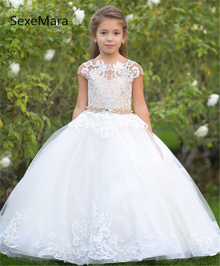 New Kids Pageant Evening Gowns Lace Ball Gown Flower Girl Dresses For Weddings First Communion Dresses For Girls Custom Made eberjey купальный бюстгальтер page 3