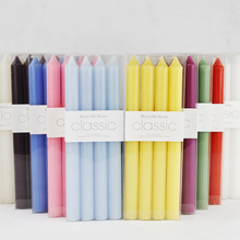 European Classic Candlelight Dinner Long candle handmade Smoke free Multicolor scented candles  home wedding decoration
