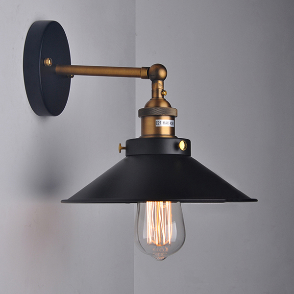 Fantastic Industrial Wall Light With Peterstow Prismatic Glass Shade  Fritz