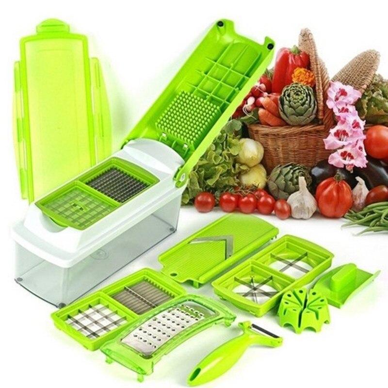 ABS 12 teile/satz Kunststoff Gemüseschneider Gemüsereibe Gadget Friut Cutter Portable Edelstahl BladesMultifunctional Werkzeug