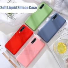Hacrin Liquid Silicone Case For Samsung Galaxy A50 Luxury Soft TPU Bumper Origin Back Cover A70 A 50 Coque