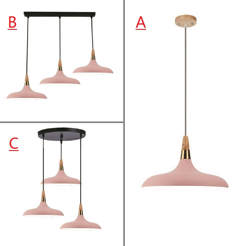 Pink Pendant Light For Kitchen Island Office Modern Ceiling Lamp Wood Pendant Lamps Bar Large Lighting Fixtures Bedroom Lights modern pendant light kitchen b celling lamp for home decoration bar large lighting elegant lights postmodern glass lamps