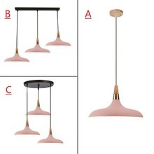 Pink Pendant Light For Kitchen Island Office Modern Ceiling Lamp Wood Pendant Lamps Bar Large Lighting Fixtures Bedroom Lights kitchen island lamps modern ceiling lamp vintage bar pendant lights loft wrought aluminum metal lighting fixtures for one pic