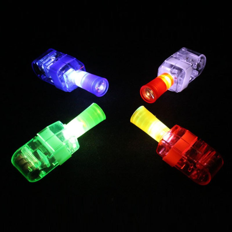 2018 LED Finger Projector Torches Beams Boys Girls Light Up Toys Gift Birthday Rave Glow Party Supplies Christmas New Year