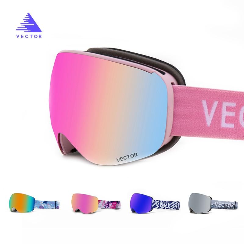 VECTOR magnético gafas de esquí UV400 protección Anti-niebla de esquí Snowboard gafas para hombres y mujeres de esquí Snowboard gafas nieve gafas