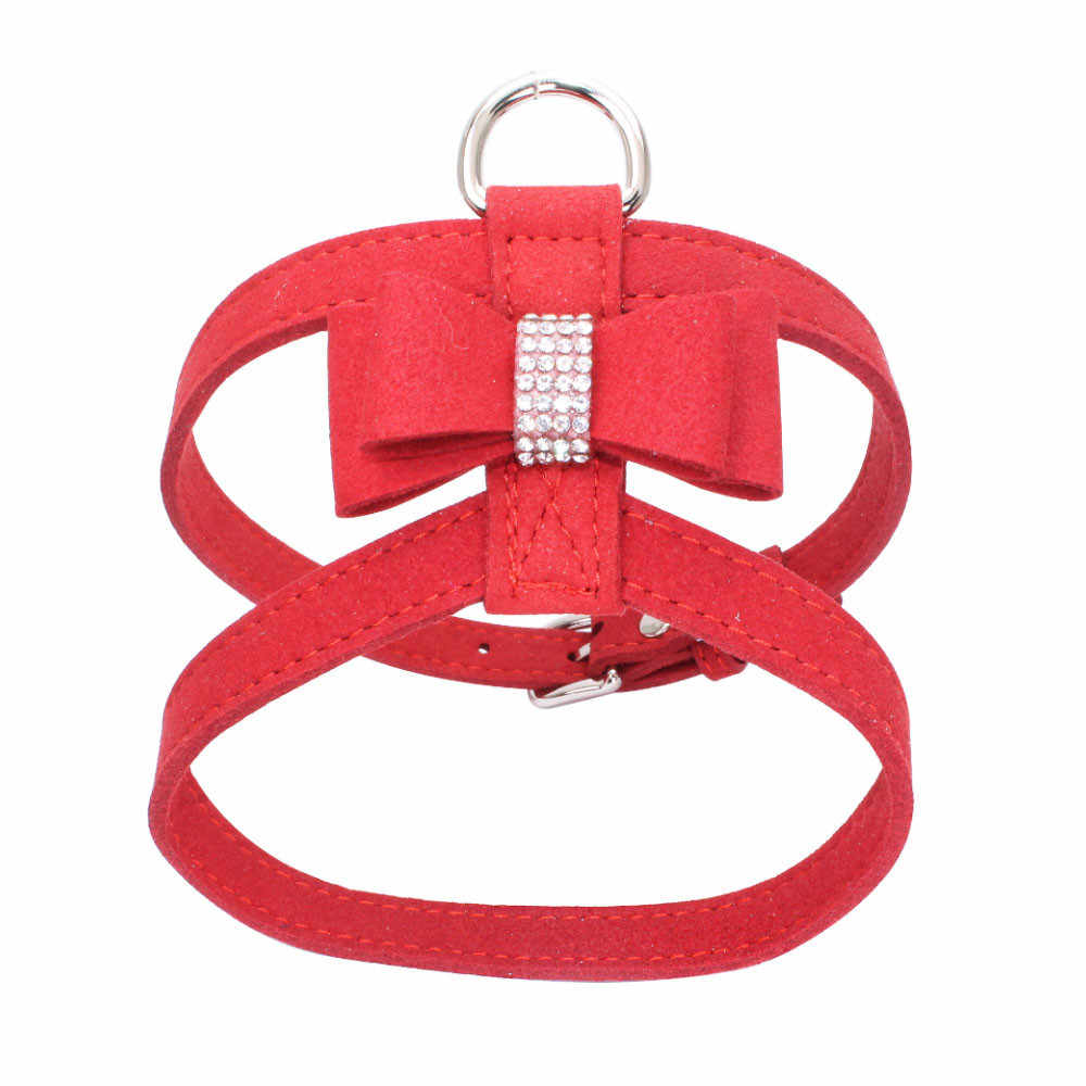 2018 TOP FASHION Adjustable Pet Dog Leads Bowknot Diamond Chest Straps  2qw0618