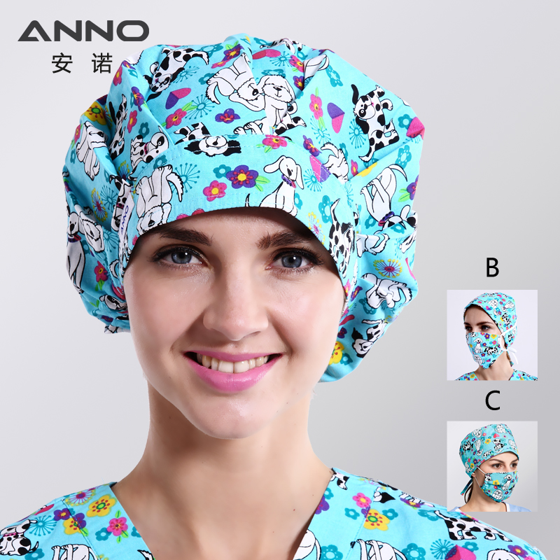 Unisex Adjustable Medical Dentist Caps Dental Working Cap Short Hair Hospital Nurse Hats With Sweatband Surgical Face Mask