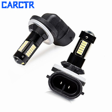 CARCTR LED Car Fog Light H27 881 6000K 30SMD 4014 Leds 12V Car Led Lights Bulbs