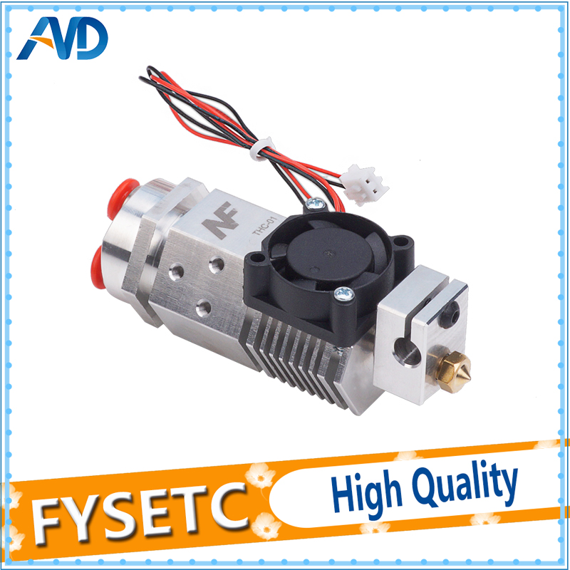 цены на 3D Printer Parts NF THC-01 Hotend Kit 3 in 1 out Multi-color Three Colors Switching Remote Extruder Hotend Kit For 0.4mm 1.75mm