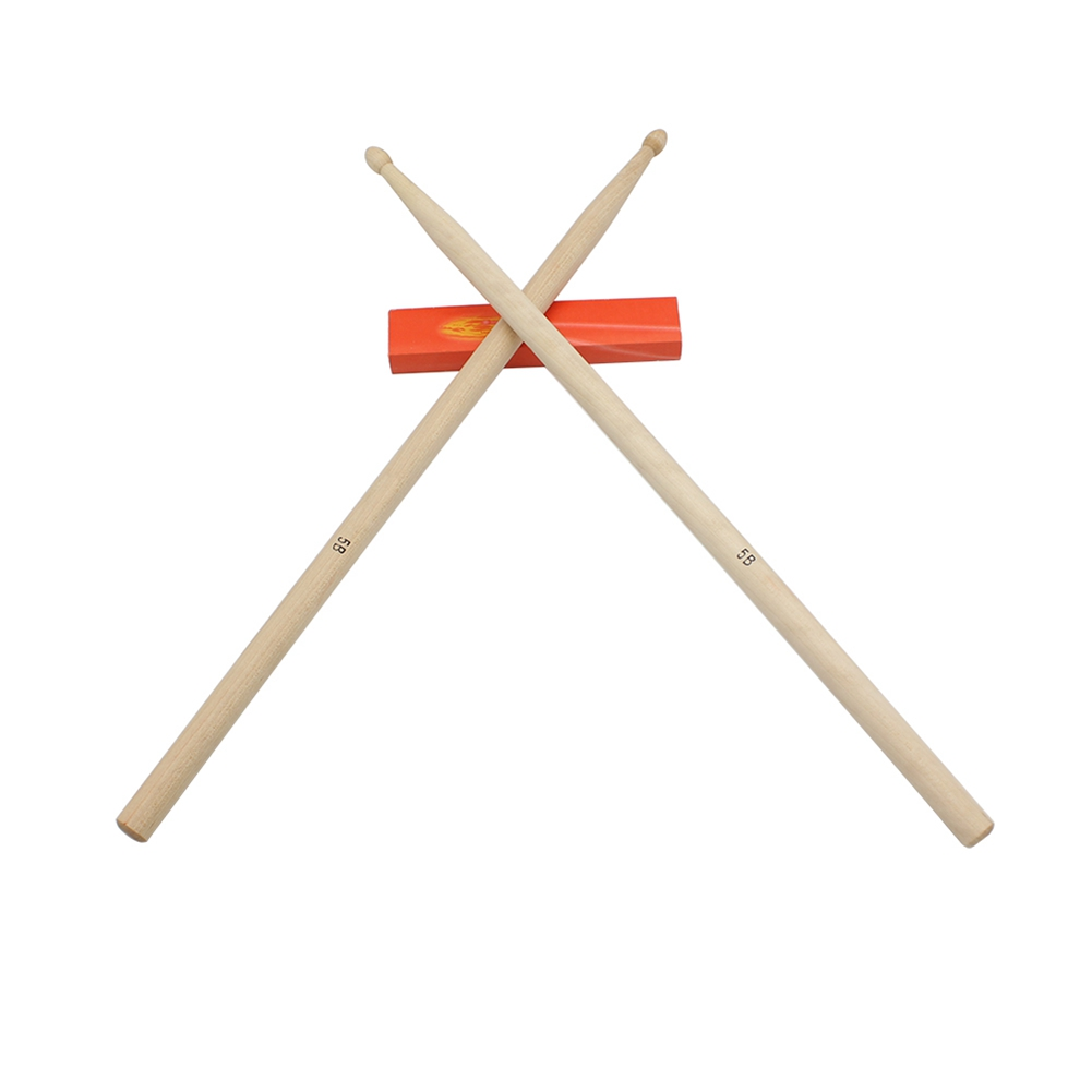 1 Pair Maple 5B Maple Træ Trommestikker Stick For Tromme Lette Træ Farve Trommestifter Musical Sparts
