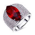 Super Sell Red rings for women Made with Cubic Zirconia White Gold  Plated Lead Free ring with Color stone Free Allergy