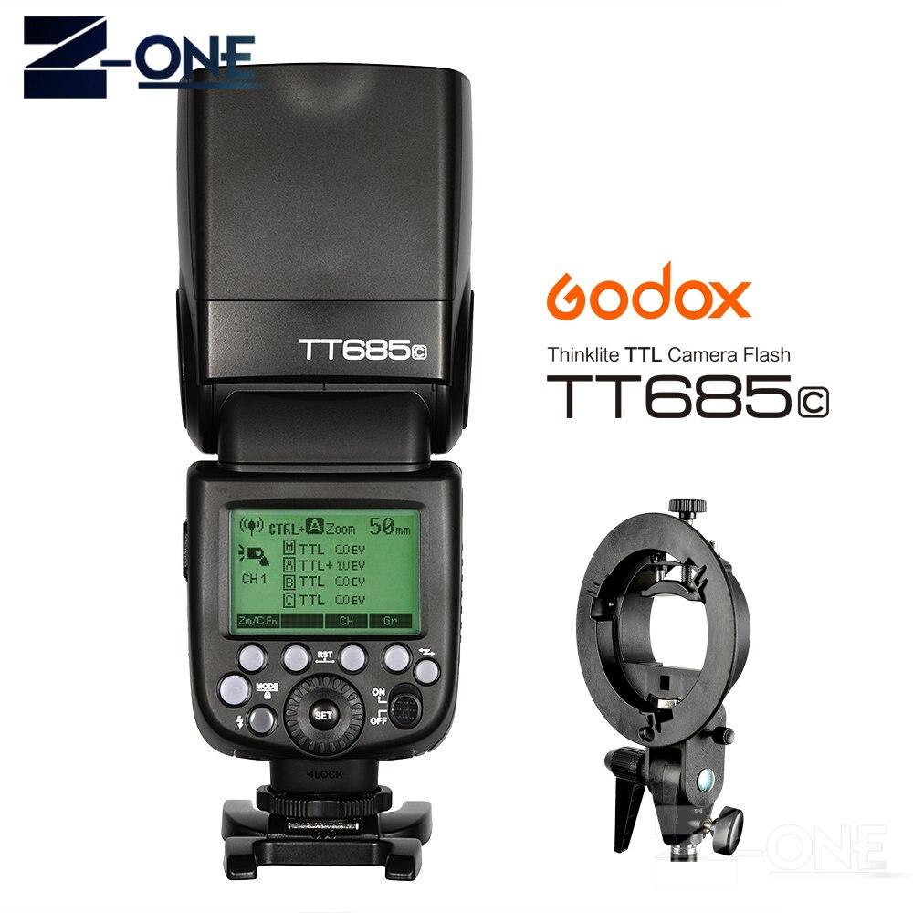 GODOX E-TTL TT685C Flash caméra Speedlite 2.4 GHz haute vitesse 1/8000 s GN60 + s-type pour Canon EOS 800D 760D 80D 77D 60D 7D 6D 5Ds