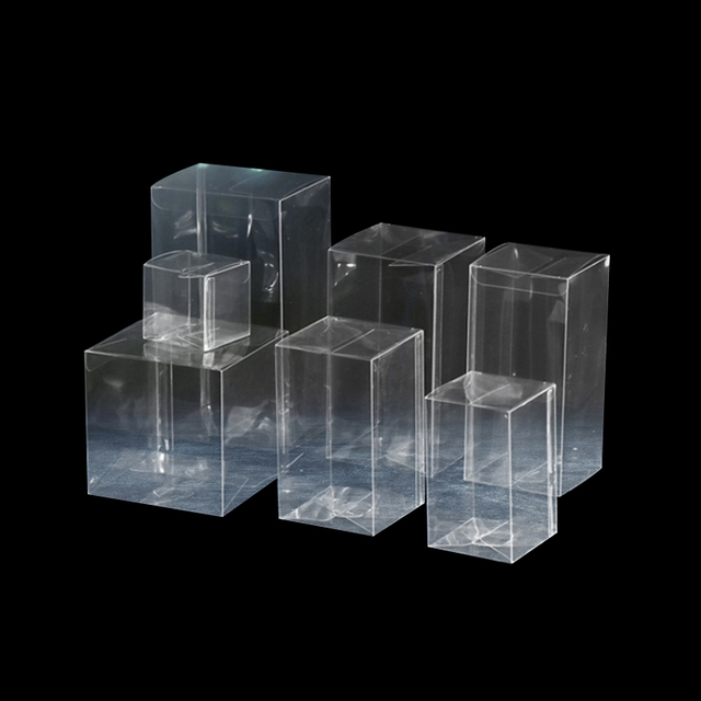 6a4cb899d82 50Pcs Clear Plastic Packaging Box Transparent PVC box for  Model Jewelry Candy Cosmetic Rectangle Gift Boxes small large 10 22