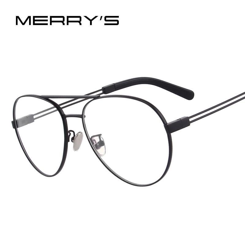 Systematisch Merrys Design Männer/frauen Mode Gläser Pilot Optische Rahmen Brillen S2080 Verkaufsrabatt 50-70% Bekleidung Zubehör