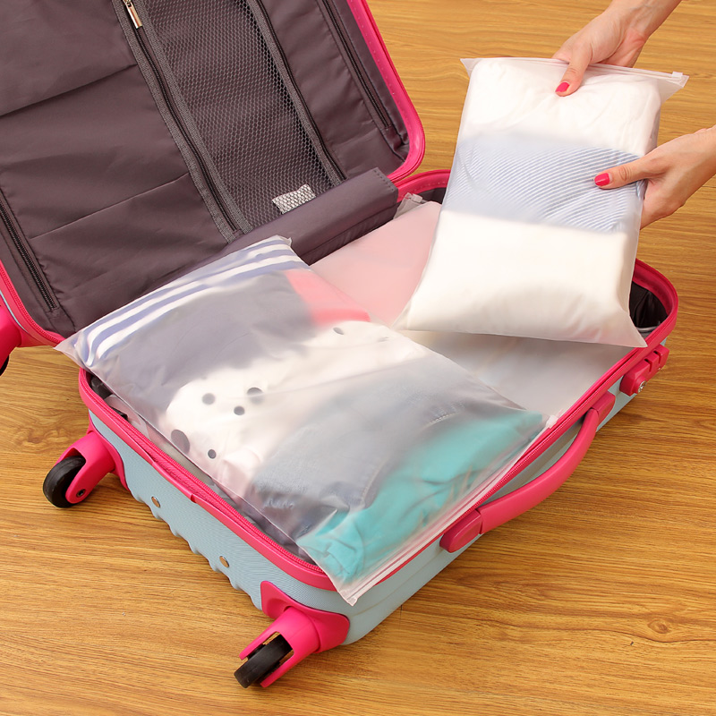 Free Shipping Travel Storage Bag Clothes Zip Lock Plastic Clear Resealable Waterproof Self Sealing Organizer In Bags From Home Garden