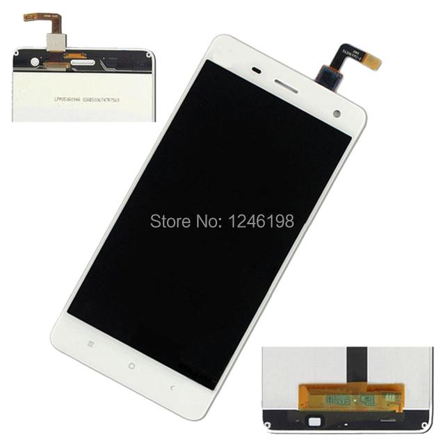 Melhor Trabalho Completo Branco LCD Screen Display Toque Digitador Assembléia Para xiaomi m4 mi4 mi 4 m 4 peças de substituição do telefone móvel