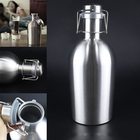 New Top Quality Beer Growler 64oz Swing Top Hip Flask Ultimate Growler 1 9L Botella Bottles