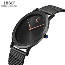 IBSO Mens Watches Top Brand Luxury 7 6MM Ultra thin Quartz Wristwatches Relojes Hombre 2017 Fashion
