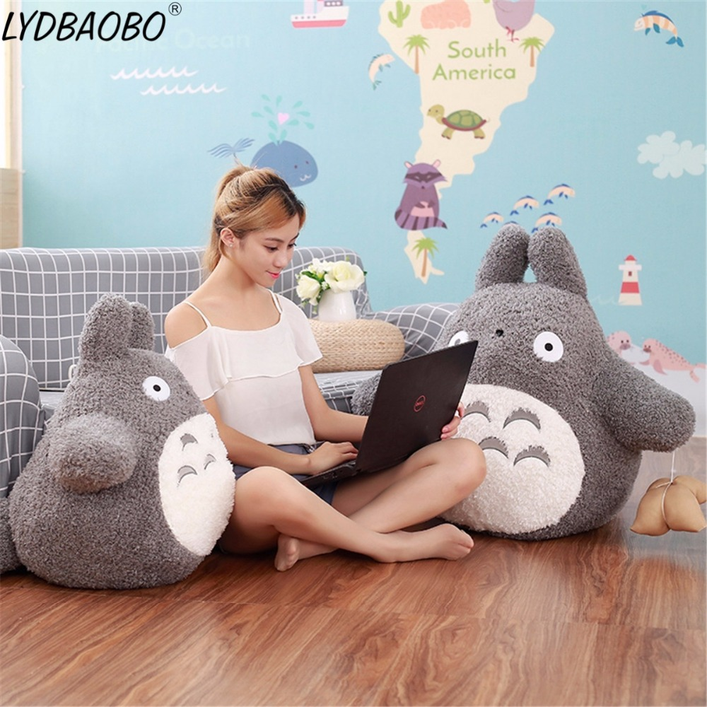 50/60/70cm Giant Japan Anime Totoro Plush Doll Baby Super Soft Animal Pillow Children Kid Creative Birthday Gift Shop&Home Decor 45cm 60cm 70cm large creative pea pod pillow toy giant totoro plush cushion children s day gift birthday present female