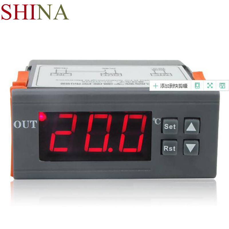 SHINA 10A Digital Thermostat Regulator Temperature Controller Heating Cooling Control -50~110 Celsius Degree with Sensor range 40 99 degree 220v touch digital lcd temperature controller with touch button cooling heating switch thermostat