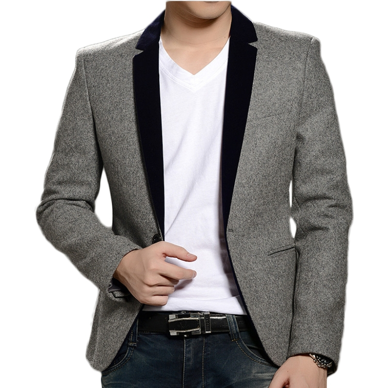 Specially, check blazers for men are in the top-charts. Adding a cardigan or sweater underneath your blazer is a great way to add warmth, texture and an air of sophistication. Pair up your blazer with a nice pair of dark washed jeans which is a great way to dress up in a casual look.