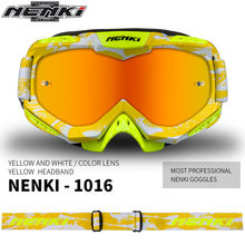 (1pc&7colors) 2017 New Arrival Brand Nenki-1016 Motocross Goggles Motorcycle Shield Visor Glasses Outdoor Sport Goggles