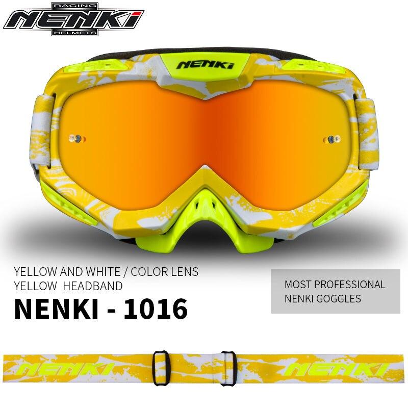 (1pc et 7 couleurs) 2017 nouveauté marque Nenki-1016 Motocross lunettes moto bouclier visière lunettes de Sport en plein air lunettes