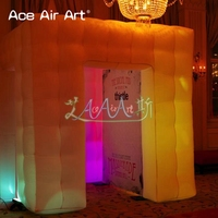 2.55m cube white oxford cabinet inflatable photo booth,led RGB brightness festival photo cube tent with props by ace air art